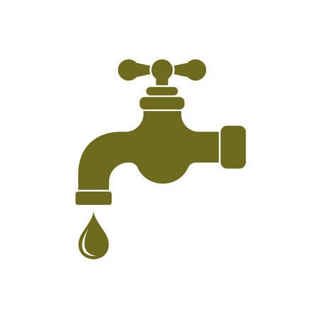 run off: Water tap icon. Vector illustration