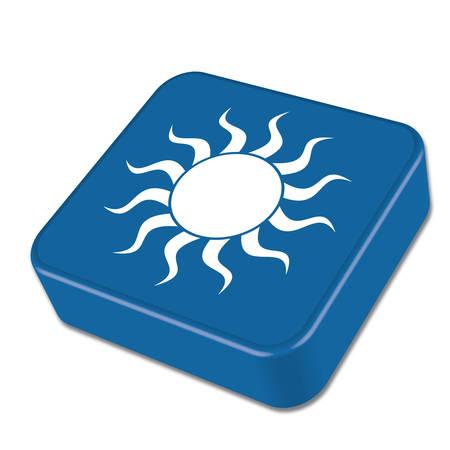 Sun icon. Vector illustration Illustration