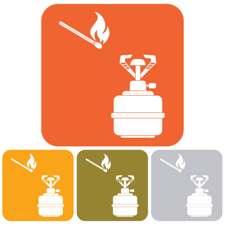 butane: Camping stove icon vector. Vector illustration.