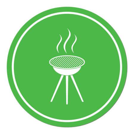 Barbecue icône. Vector illustration