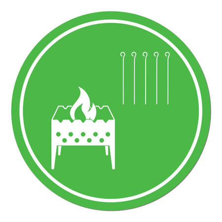 Brazier icon. Vector illustration Stock Vector - 74300694