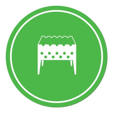 Brazier icon. Vector illustration Stock Vector - 74300698