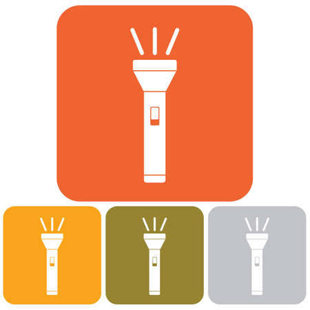 lite: Flashlight icon. Portable torch vector isolated illustration.