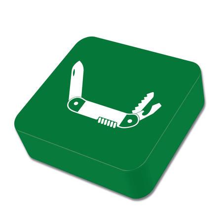 temperino: Camping knife icon. Vector illustration Vettoriali
