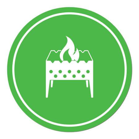 Brazier icon. Vector illustration. Illustration