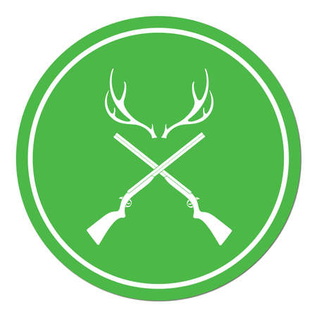 Hunting club logo icon. Vector illustration.