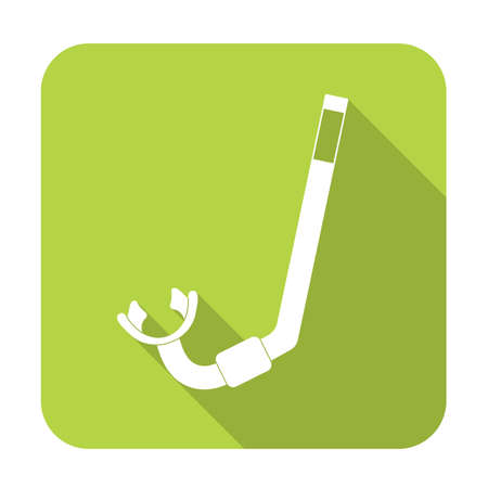 scuba goggles: Diving Snorkel Icon. Tube for diving vector illustration isolated Illustration