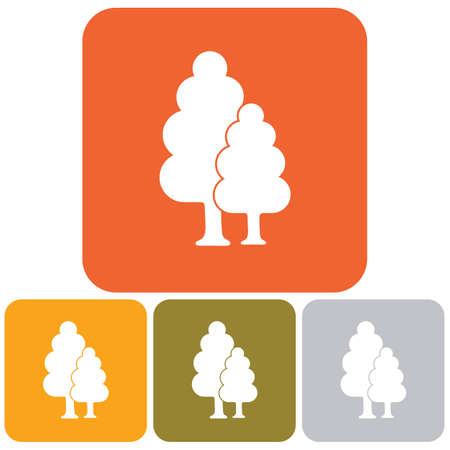 Deciduous forest icon. Vector illustration