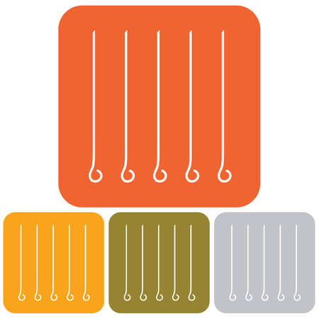 Skewers icon. Vector illustration