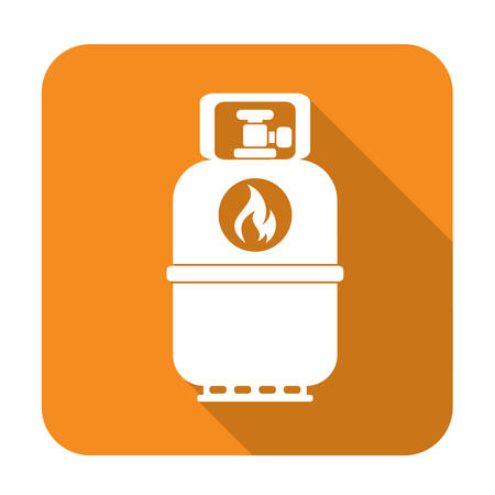 butane: Camping gas bottle icon. Flat icon isolated. Vector illustration Illustration