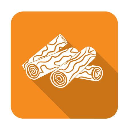 Firewood icon. Vector illustration Illustration