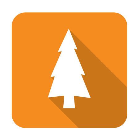 newyear: flat icon  Fir Trees