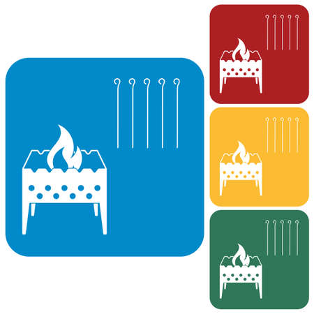 Brazier icon. Vector illustration