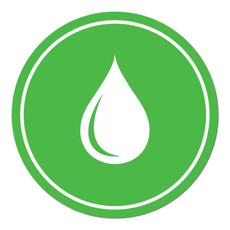 ooze: Water drop icon. Vector illustration Illustration