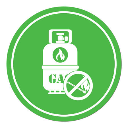 gas stove: Camping gas bottle icon. Flat icon isolated. Vector illustration Illustration