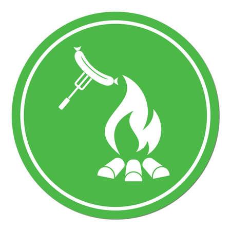 Barbecue sausage icon. Vector illustration. Stock Vector - 76439204