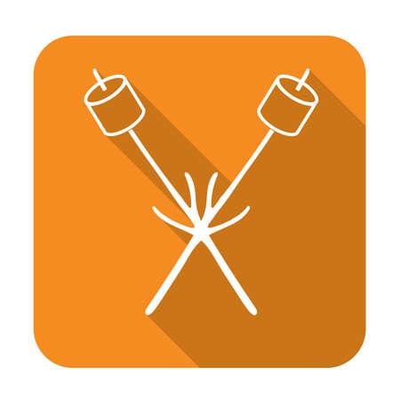 Zephyr on skewer icon. Vector illustration.