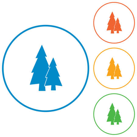 flat icon  Fir Trees