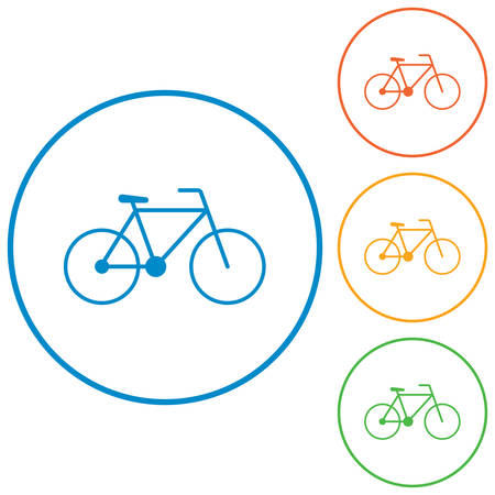 dirt: Bicycle  bike icon vector illustration