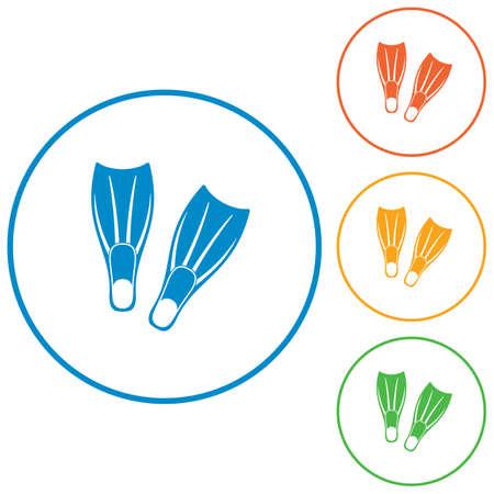 palmes de plongée icône. illustration vectorielle