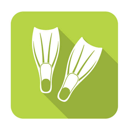 flippers: Diving flippers icon. Vector illustration