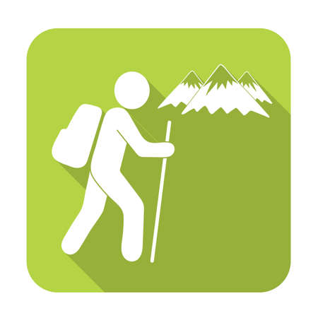 Hiking icon illustration isolated vector sign symbol Ilustração