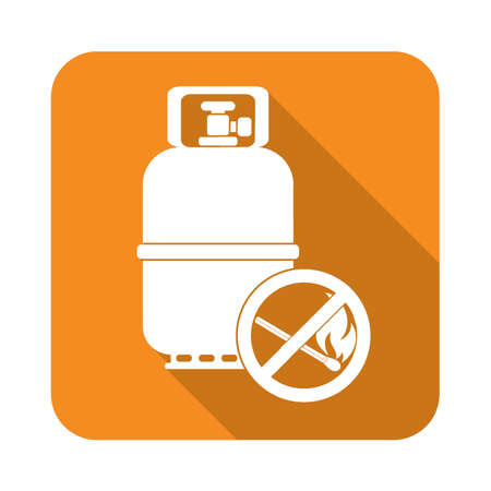 Camping gas bottle icon. Flat icon isolated. Vector illustration Illustration