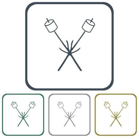 Zephyr on skewer icon. Vector illustration Stock Vector - 77611864