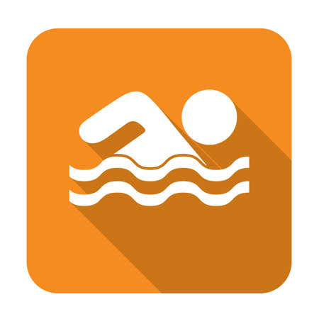 swiming: Swimming water sport icon. Vector illustration