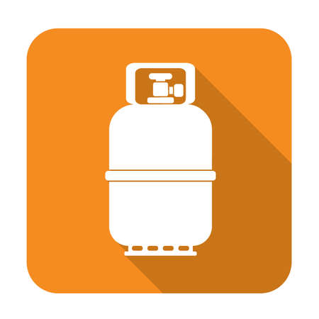 hiking: Camping gas bottle icon. Flat icon isolated. Vector illustration Illustration