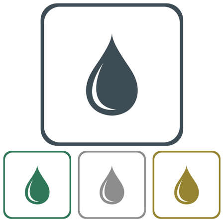 spare: Water drop icon. Vector illustration Illustration