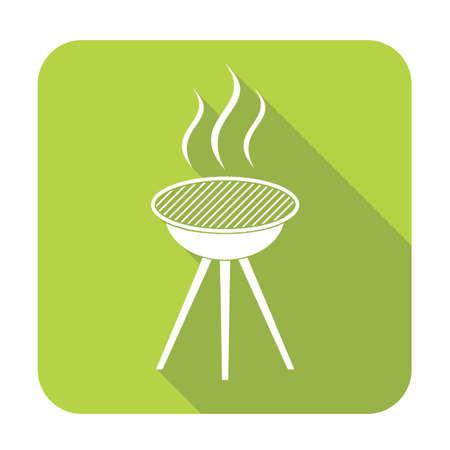 salamandre: Barbecue icône. Vector illustration