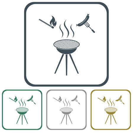 Barbecue sausage icon. Vector illustration. Stock Vector - 78480872