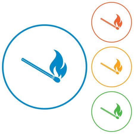 extinguishing: Match fire icon vector. Vector illustration Illustration