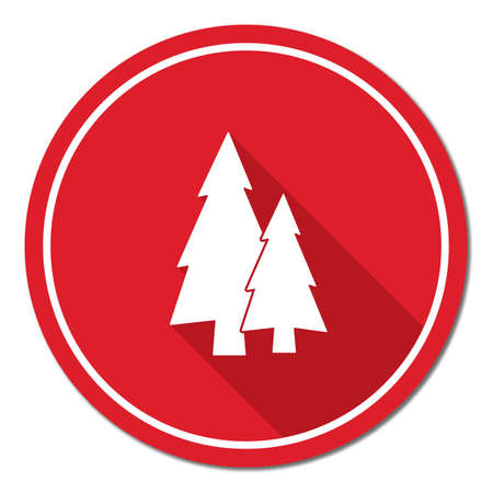 newyear: Fir Trees forest flat icon  Illustration