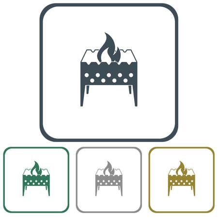 Brazier icon. Vector illustration Stock Vector - 79172474