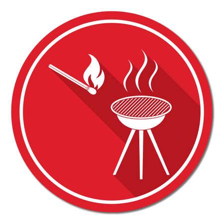 banger: The barbecue icon. Flat Vector illustration. Illustration