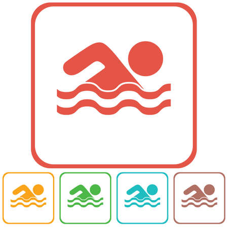 swiming: Swimming water sport icon. Vector illustration