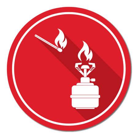 butane: Camping stove icon vector. Vector illustration.   Illustration