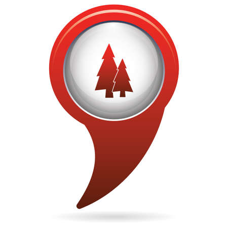conifer: Fir Trees forest flat icon