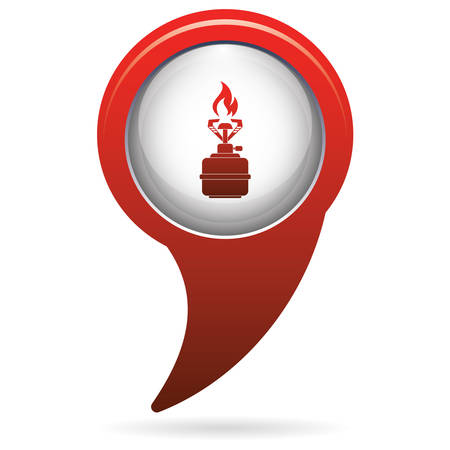 gas burner: Camping stove icon vector. Vector illustration.