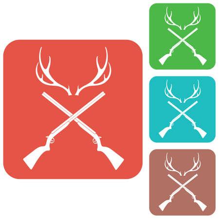 drake: Hunting club logo icon. Vector illustration