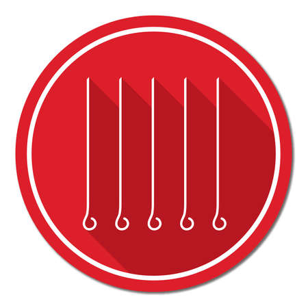 cookout: Skewers set icon. Vector illustration