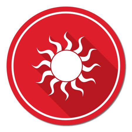 Sun stylized image icon. Vector illustration Illustration