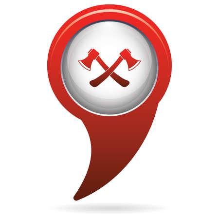 reconstruction: The ax icon. Axe symbol. Flat Vector illustration
