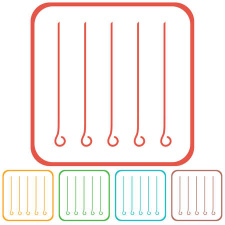 Skewers set icon. Vector illustration