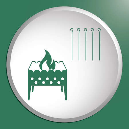 Camping Brazier icon. Vector illustration Stock Vector - 81132669