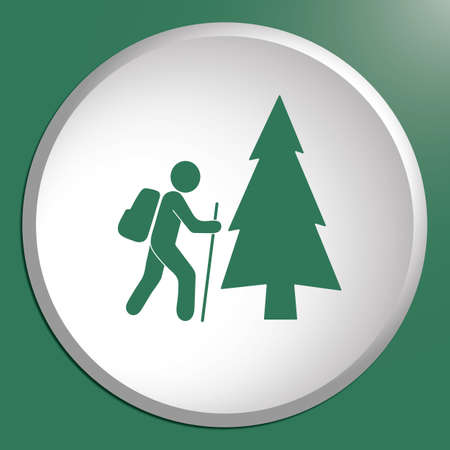 Hiking icon illustration isolated vector sign symbol Illustration