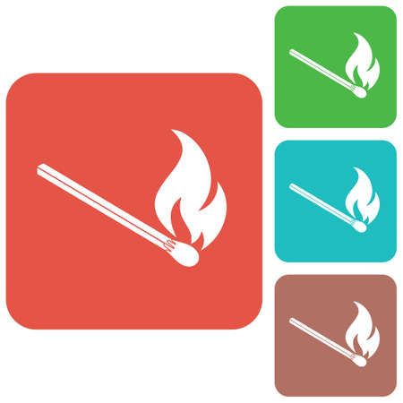 Match fire icon vector. Vector illustration Illusztráció
