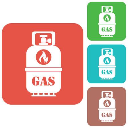 butane: Camping gas bottle icon. Flat icon isolated. Vector illustration Illustration